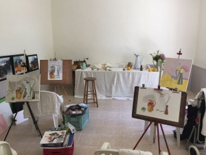 Atelier de peinture de Salvanet